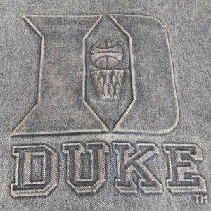 Vintage Duke University basketball denim vest